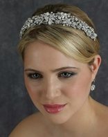 SPECTACULAR Swarovski crystal Edward Berger headband - 2372 - SALE
