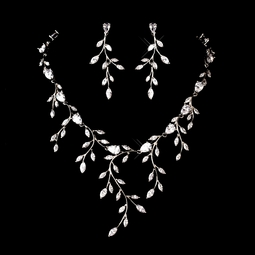 SPECTACULAR vine cubic zirconia necklace set - PRICED AT WHOLESALE!!!