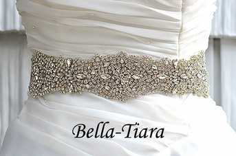 Stella - Royal Swarovski crystal wedding sash belt - SALE