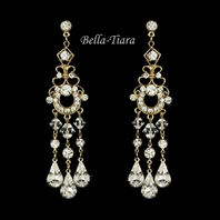 Strike - DAZZLING gold chandelier earrings - SALE