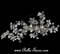 Jayda - Beautiful Designer Swarovski freshwater pearl wedding comb - SALE