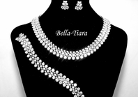 Chlara - High End 3pc CZ Necklace earring and bracelet set