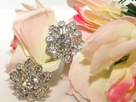 Stunning - Antique Filigree Floral Wedding Hair Pins - ONE SET LEFT