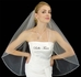 Stunning crystal marquise cut edge wedding veil - SALE