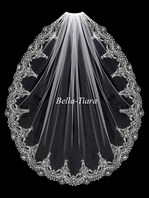 Stunning!!! Elegant vintage Silver or gold beaded veil - SALE
