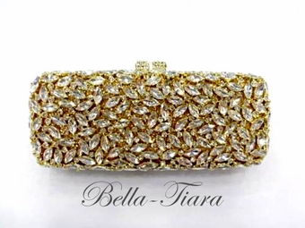 Stunning gold swarovski crystal clutch purse - SALE