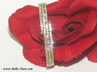 Stunning gold swarovski crystal prom wedding bracelet - SALE