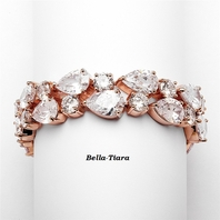 Stunning high end cz rose gold bracelet - SALE