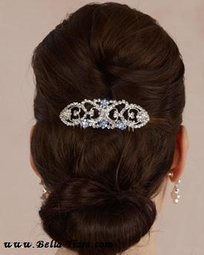 Stunning replica Bella Twilight's wedding comb blue crystals - sale
