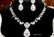 Stunning royal CZ wedding necklace set - sale