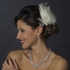 SUSANNA -Couture Ivory Wedding Feather Fascinator Hair Clip - SPECIAL two left