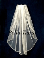 Noms - Stunning beaded edge wedding veil - SALE