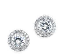 Sunflower - Elegant CZ designer inspired earrings - perfect for bridesmaids