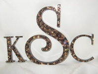 Swarovski crystal wedding cake topper - SALE
