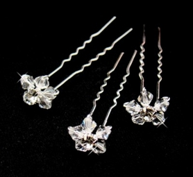 Swarovski Flower Crystal Beaded Hair Pin<br> Set of 6