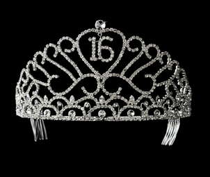Sweet 15 or Sweet 16 Crystal Tiara - SALE