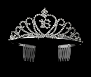 Sweet 16 Silver Clear Tiara