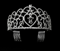 Sweet Sixteen crystal crown tiara - SALE