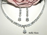 Sweetheart - Romantic classical beauty Cubic Zirconia necklace set - SALE