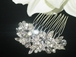 Talya - Stunning Swarovski crystal hair comb set of 3 - SPECIAL one set left!!