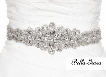 Tanya - NEW Gorgeous beaded dazzling wedding sash - SALE