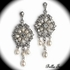 Thalia - Romantic off white crystal earrings - SPECIAL