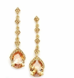 Tipton - Elegant Champagne Gold CZ drop Earrings