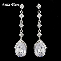 Tipton - Elegant CZ teardrop Earrings - SALE