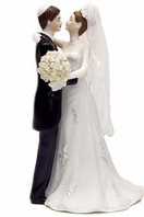 Traditional Jewish Bride & Groom Wedding Cake topper