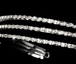 Triple row rhinestone bridal headband - SALE!!