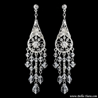 Tuscany -  STUNNING Swarovski crystal chandelier wedding earrings - SALE