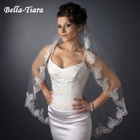 The Romance Collection - 1 Tier Fingertip Lace Veil