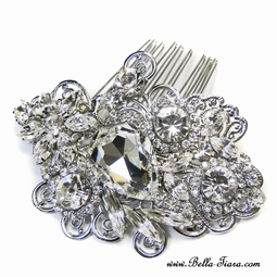 Venezia - Royal Collection Swarovski crystal wedding hair comb - SALE
