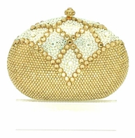 Venus - Gorgeous goddess gold Swarovski crystal evening purse - SALE!!!