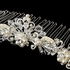 Victoria - Victorian ivory pearl and crystal Comb - SALE