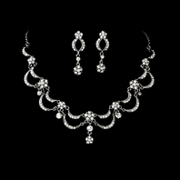 Victorian Antique Silver Clear Jewelry Set  - SPECIAL
