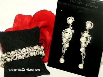 Vila - Beautiful pearl and bracelet jewelry set - SALE