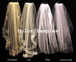 "Regal 144""  long beaded lace cathedral wedding veil with blusher"