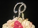 Vintage Large Full Crystal Monogram Cake Topper