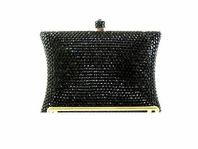 Vulcan - Glamorous Swarovski black crystal evening purse - SALE!!