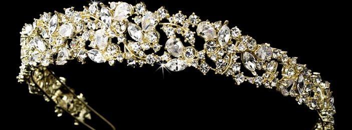 Gold headpieces, gold wedding hair accessories, gold jewelry