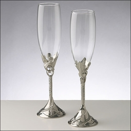 Wedding Toasting Glasses - Victorian English Twist<br><i>Personalized</i> - SALE