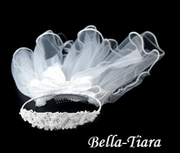 Communion crown Headband and Veil - SALE