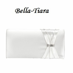 White or ivory elegant clutch Wedding Purse