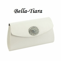 light ivory Satin Wedding Purse - SALE