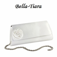 White Statin Dyable Wedding Purse