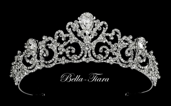 Windsor - Princess crystal wedding crown tiara - SALE two left