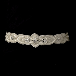 Zina- Elaborate and beautiful wedding sash - SALE