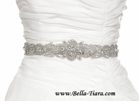 Zoa - Couture Elegant Crystal beaded all around wedding sash - SPECIAL