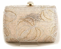 Zoe - Beautiful elegant gold swarovski crystal purse - SALE